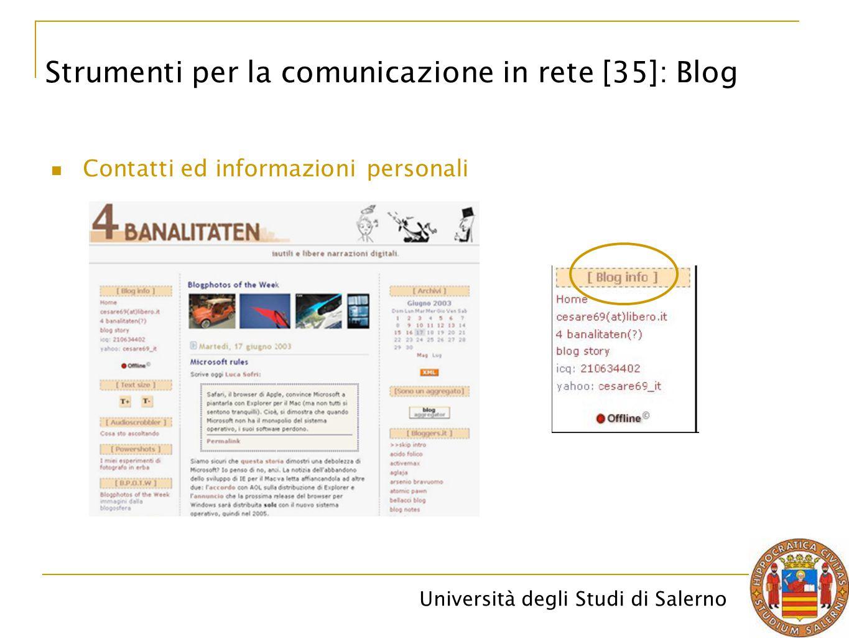Strumenti per la comunicazione in rete [35]: Blog
